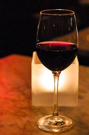 A glass of Malbec wine