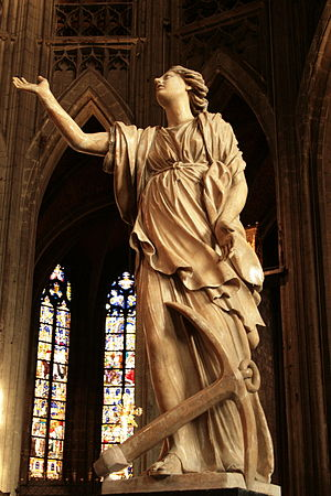 Alabaster statue of the Hope. – Part of the fo...