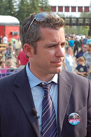Jason Jones conducting an interview for The Da...