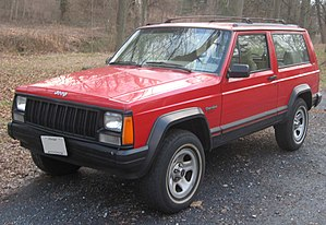1984-1996 Jeep Cherokee photographed in Kensin...