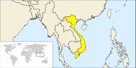 Localização do Vietname / Vietnã