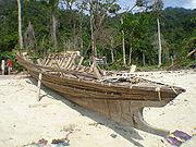 A boat of Moken