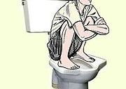 Defecation in squatting position