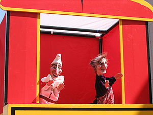 Punch and Judy puppet show in Philadelphia