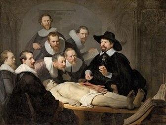 Μάθημα ανατομίας του Δρ. Τουλπ, 1632, λάδι σε μουσαμά, 169,5x216,5 εκ., Χάγη, Mauritshuis