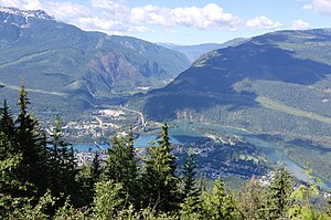 Revelstoke British Columbia from Mount Revelstoke.