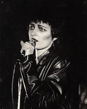 Siouxsie Sioux at the Edinburgh Tiffany's, 1980