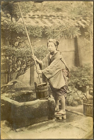 File:Woman at the well, Japan. (10797603194).jpg