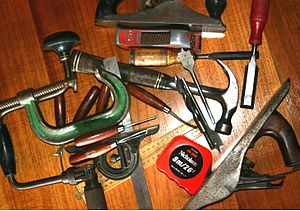 English: Assorted Woodworking Tools