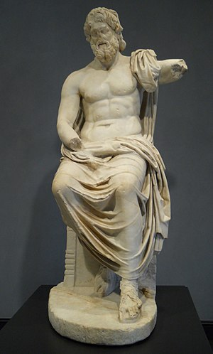 English: King of the Gods, Zeus, at the Getty ...