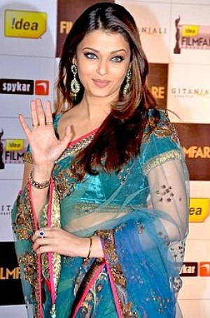 Indian actress Aishwarya Rai at the Filmfare A...