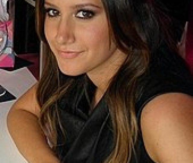 Head And Shoulders Of Tisdale In Her Twenties Her Dark Brown Straight Hair Is
