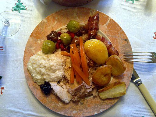 Christmas lunch in the United Kingdom