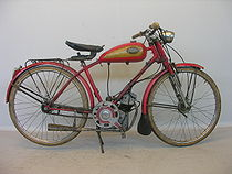 Ducati Cucciolo blokje in een Vilar-frame