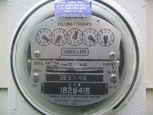 Household electric meter, USA