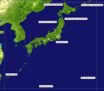 Geografia del Giappone  Wikipedia