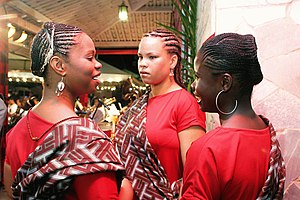 Afro-Brazilian women during a Candomblé ceremony.