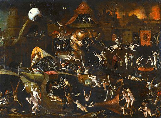 Follower of Jheronimus Bosch - The Harrowing of Hell