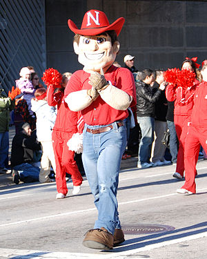 Herbie Husker, the mascot of the University of...