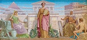 History, mosaic by Frederick Dielman. House Me...