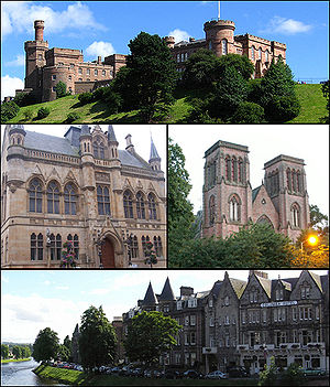 Various buildings around Inverness