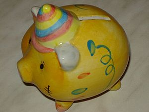 A Piggy bank (penny bank/money box)