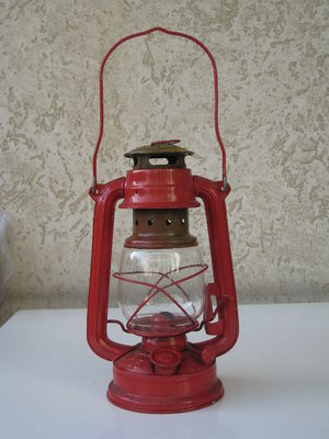 English: Kerosene lamp Italiano: Lampada a pet...