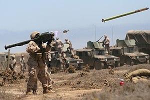 English: A Marine fires a FIM-92A Stinger miss...