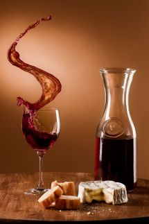 Wine and Cheese Photography