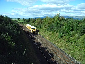 Settle to Carlisle Railway. Looking N towards ...