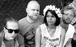 English: The American blues-punk rock band Shi...