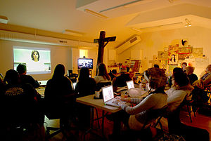 Video conference session between SOVA and OCAD...