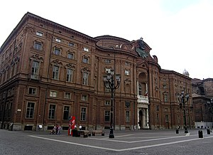 Front of palace Carignano, Turin (Italy) Franç...