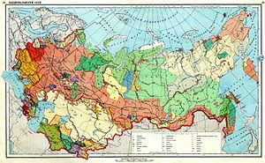 Map of the ethnic group in the USSR in 1941