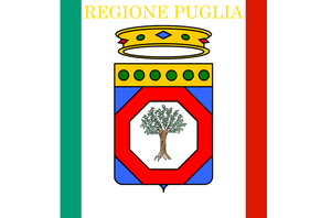 Flag of the Apulia region of Italy.