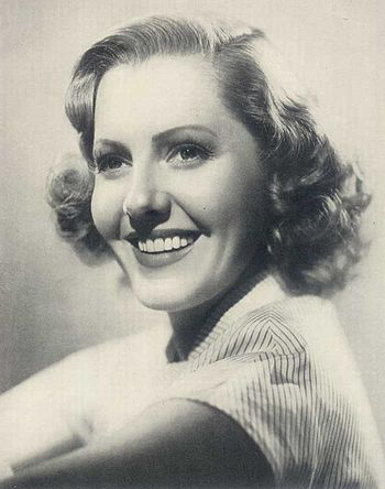 Publicity photo of Jean Arthur for Argentinean...