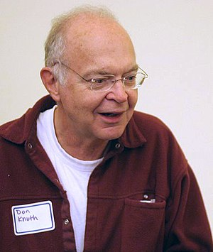 Donald Knuth at a reception for the Open Conte...