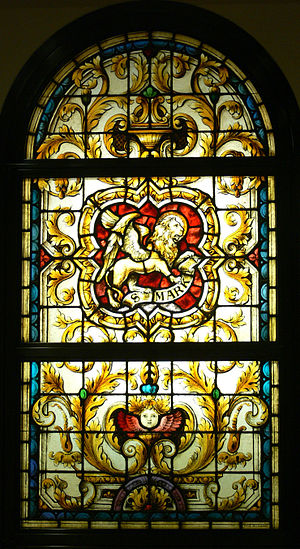 Stained glass windows in the Mausoleum of the ...