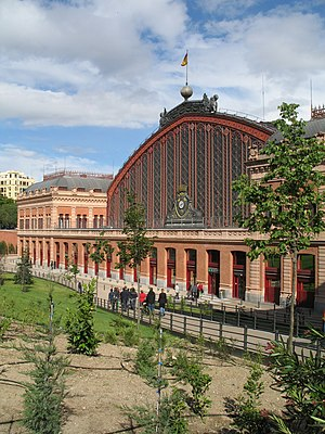 Madrid (Spain): the old Atocha Station
