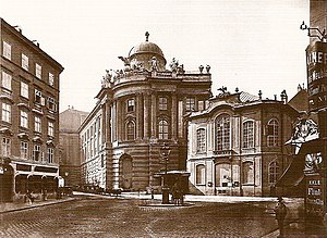 Deutsch: Das alte Wiener Burgtheater am Michae...