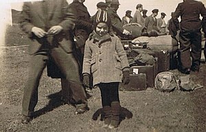 Jewish refugees fleeing from the Nazis, a trip...