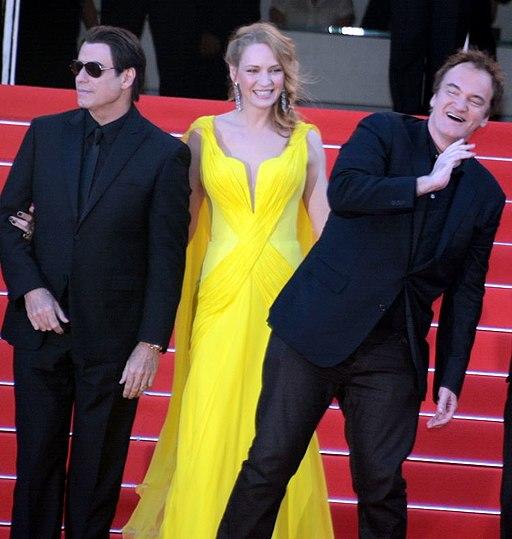 Quentin Tarantino Uma Thurman John Travolta Cannes 2014