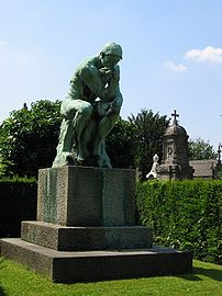 Auguste Rodin's The Thinker, bronze cast by Al...
