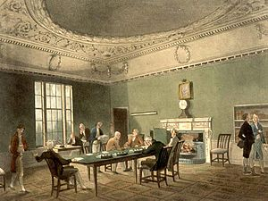 The Board of Trade circa 1808.