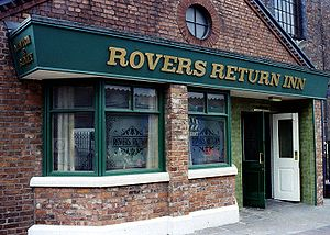 A replica of the The Rovers Return pub, from t...