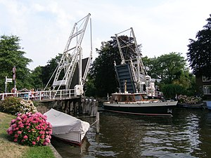 Van Leer Brug, a drawbridge in Vreeland