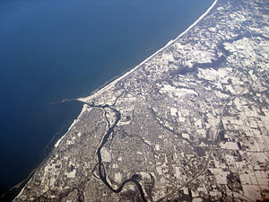 English: Aerial picture of Benton Harbor, Mich...
