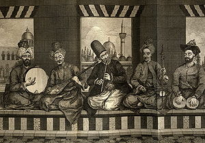 Syrian music band from Ottoman Aleppo, mid 18t...