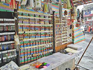 Jewellery stall on Bandra Linking Road in Mumbai