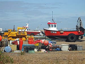 English: Boats resting on Bank Holiday Monday ...